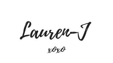 Lauren-J xoxo sign off
